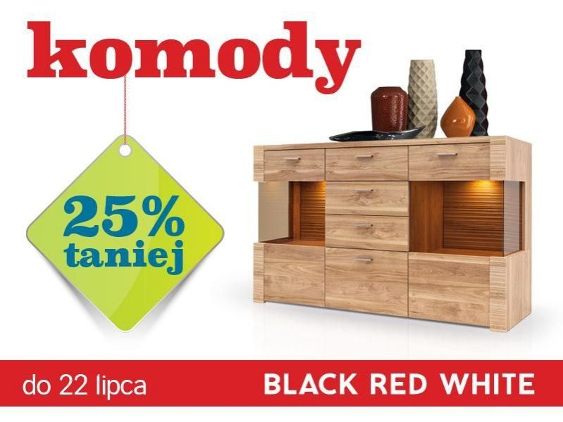 Komody 25% taniej w Black Red White